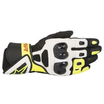Alpinestars SP Air Vented Leather Motorcycle Sports Glove - Black White Fluo